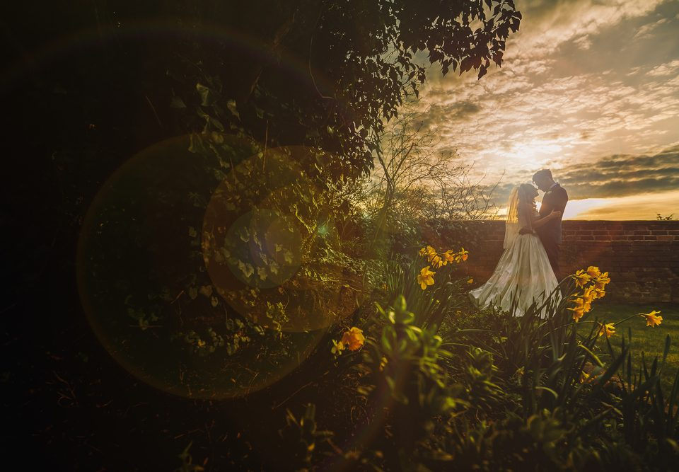 Sunset Wedding Photography at St Johns House Lichfield