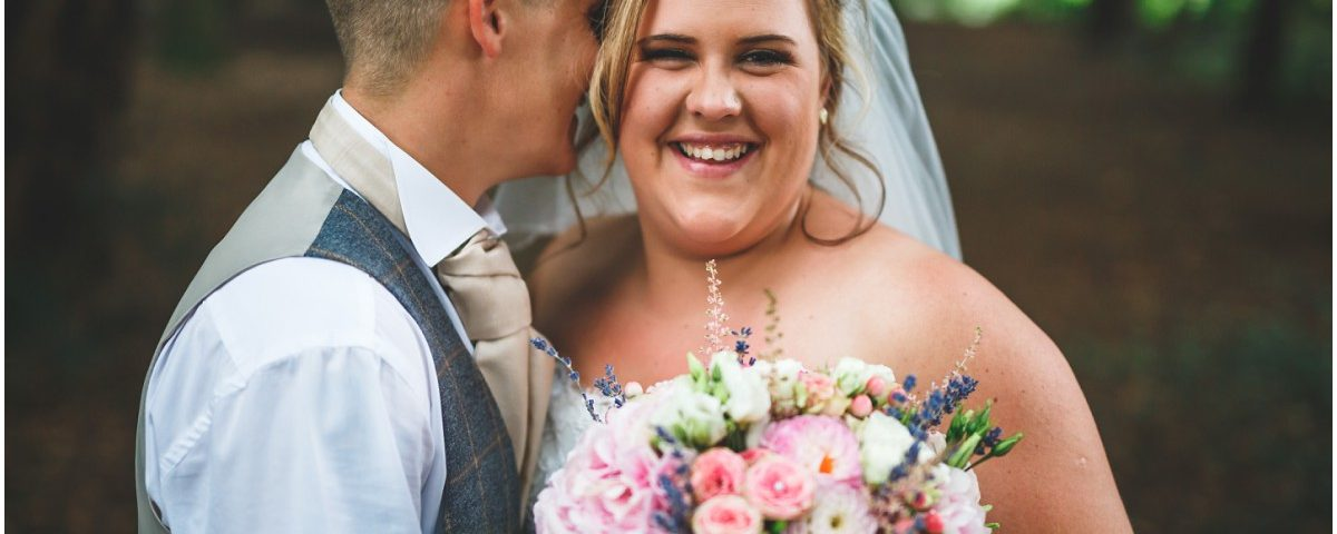 Newlyweds at Doveridge Church and Village Hall Wedding