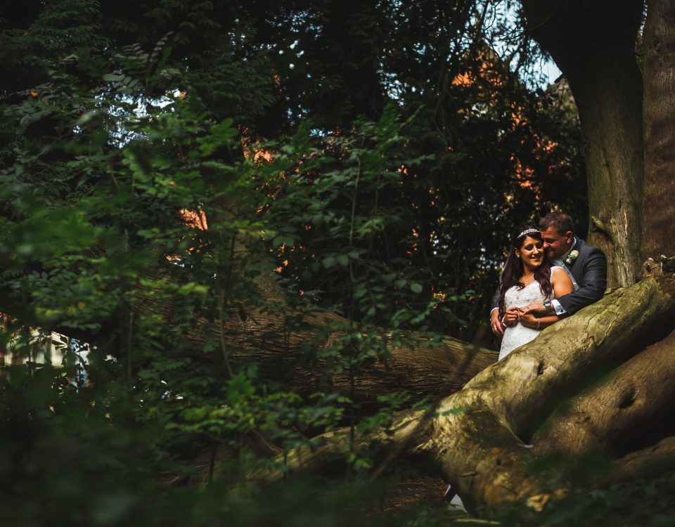 bride and groom couple portrait trees the mount hotel wedding