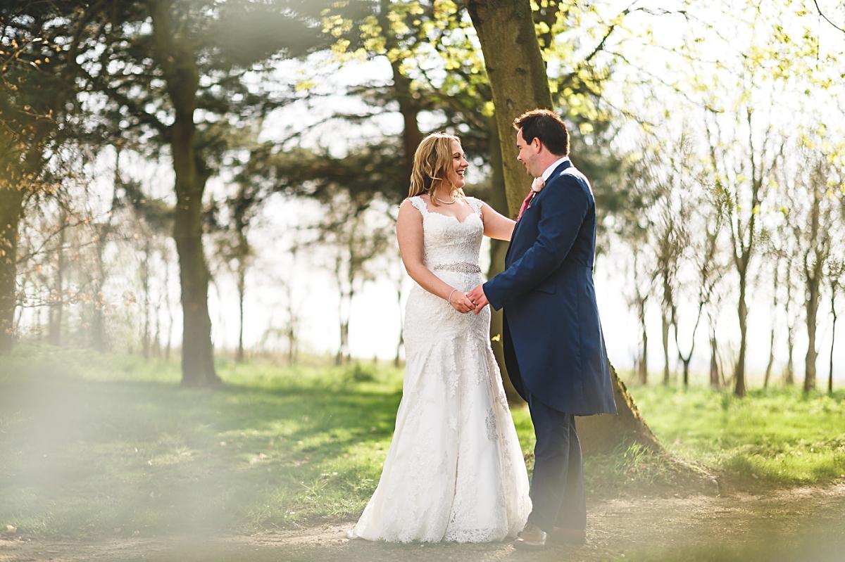 alrewas hayes wedding photography woodlands portrait shot