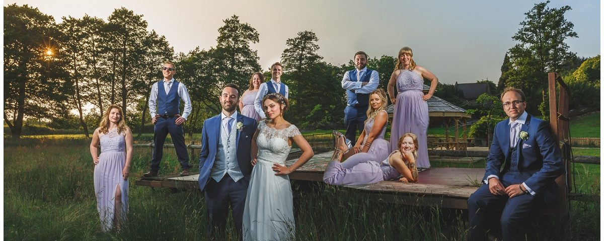 the old school house bridal party wedding photography