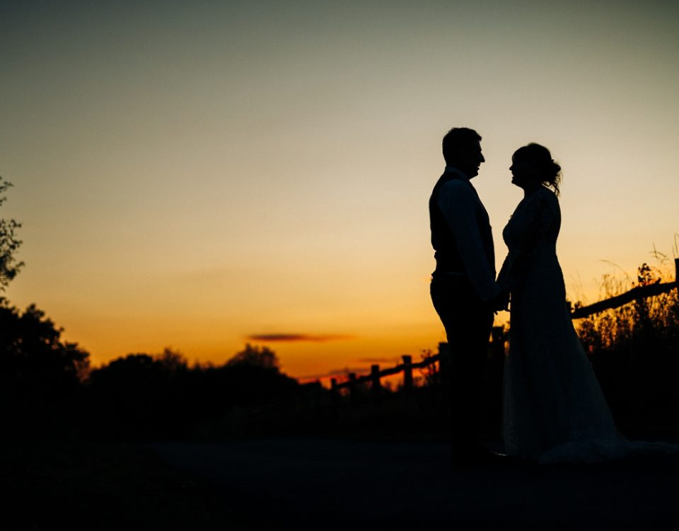 Shustoke wedding photography silhouette mr and mrs newlyweds