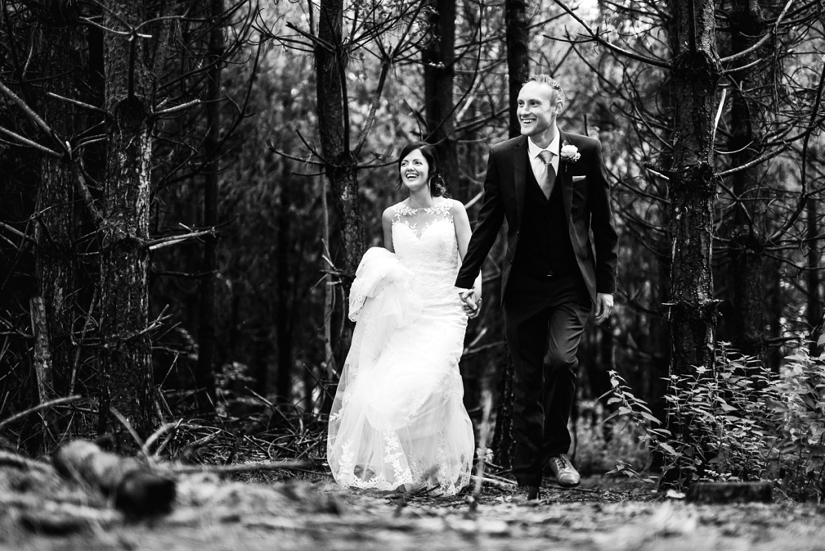 The Glade wedding photography black and white bride and groom